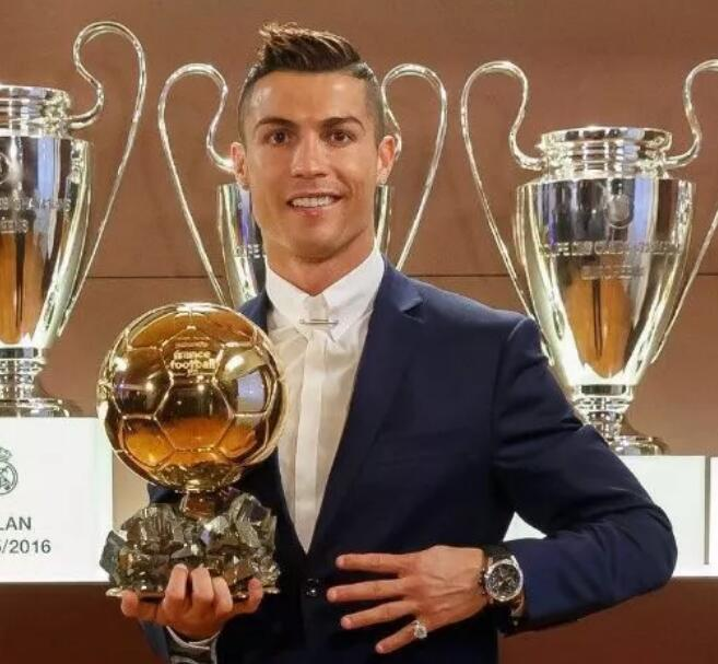 The watch makes Cristiano Ronaldo look more charming and gentle.