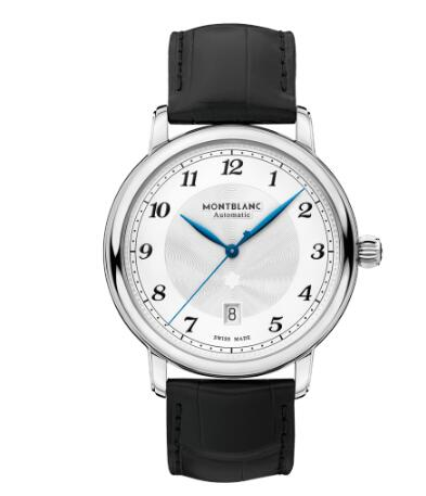 The black leather strap makes the watch more gentle and elegant.