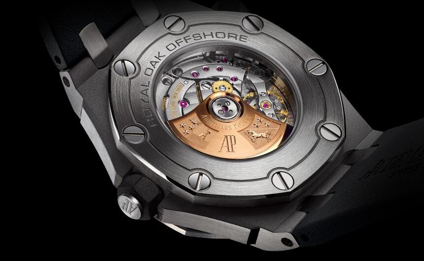The beauty of the self-winding movement could be viewed through the transparent casback.
