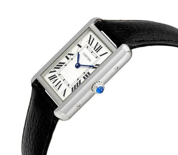 The simple timepiece maintains all the iconic features of Cartier.
