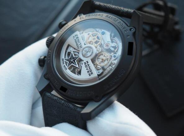 The caseback will show you the relationship between the watch brand and the Range Rover.