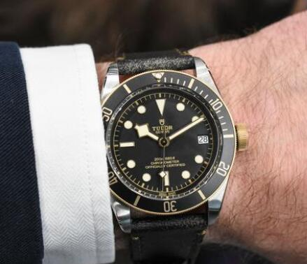 Tudor sports a distinctive look of retro style.