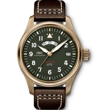 IWC Pilot's watch with bronze case and green dial sports a look of retro style.