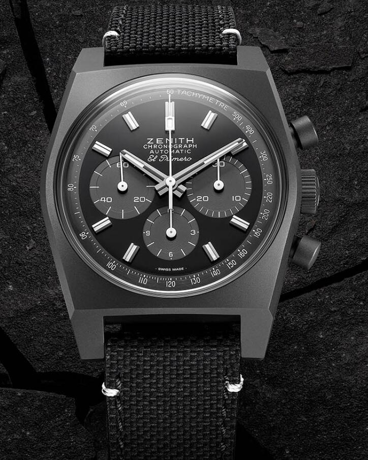 Swiss duplication watches for sale are totally in black.