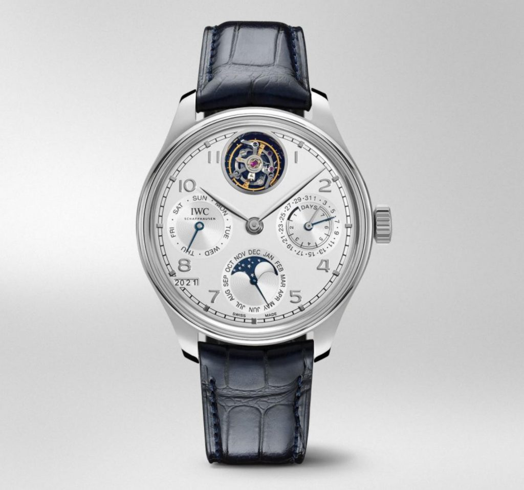 The 45mm fake watch is made from platinum.