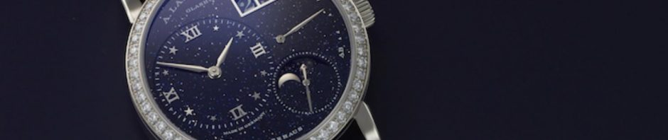 The 18k white gold fake watch is decorated with diamonds.