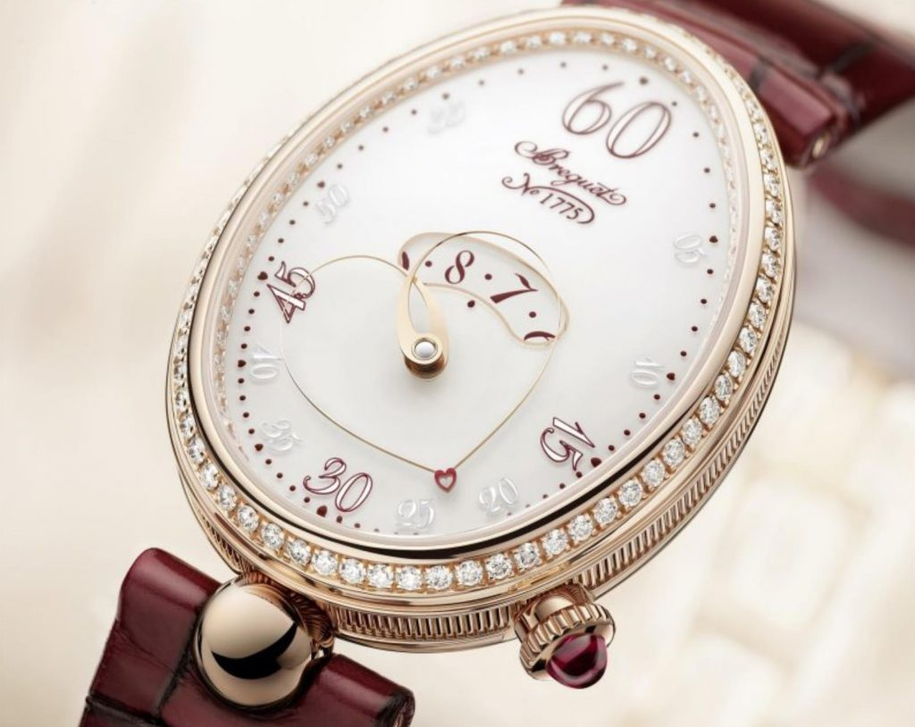 The 18k rose gold fake watch has a white dial.