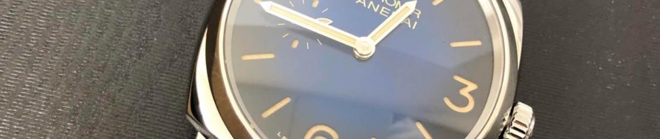 The quality fake watch has a blue dial.